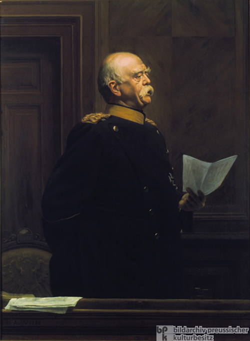Anton von Werner, <I>Prince Bismarck Among Members of the Bundesrat, Giving a Speech</I> [<I>Fürst Bismarck am Bundesratstisch, eine Rede haltend</i>] (1888)