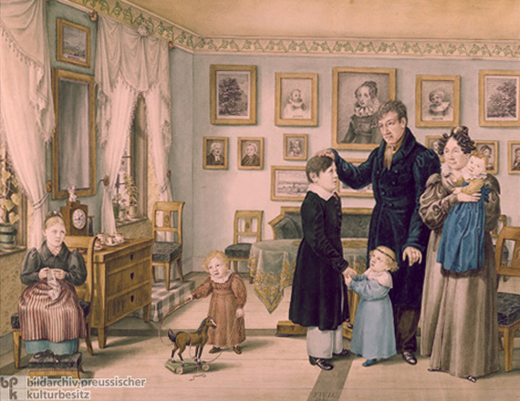 Family during the Biedermeier Period (c. 1830)