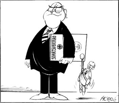 Caricature: State Treaty between the FRG and the GDR (1990)