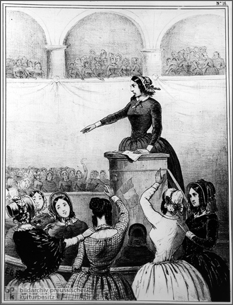 Caricature: Women's Club Meeting (1848)