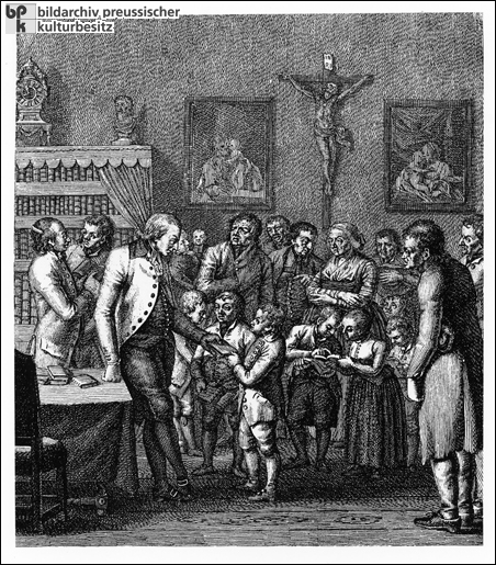 Awarding Prizes to Industrious Pupils (18th Century)