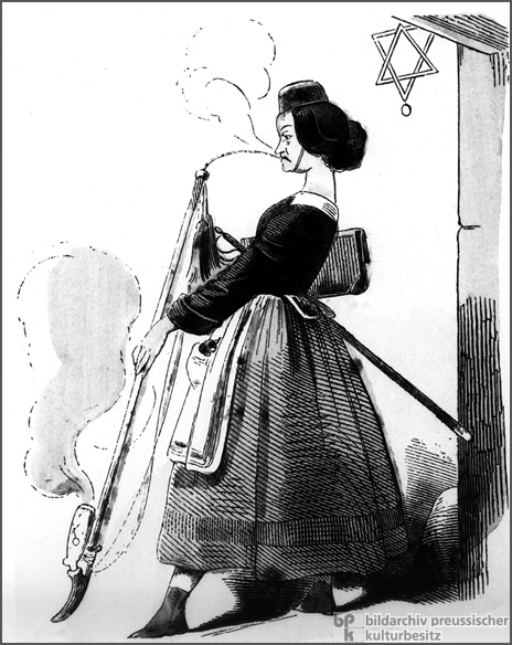 Caricature: Female University Student (1847)