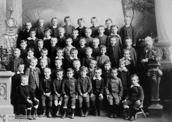 Fifth-Grade Class in the Middle School in Wittenberge (1888)