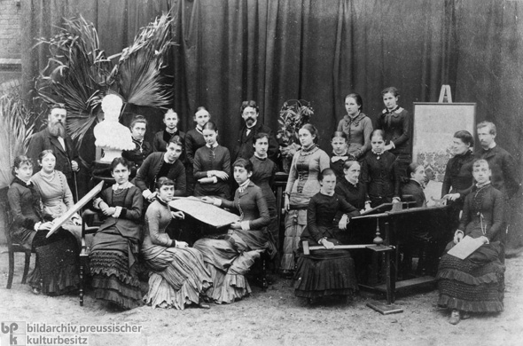Graduating Class of a Girl's Vocational School in Hamburg (1882)