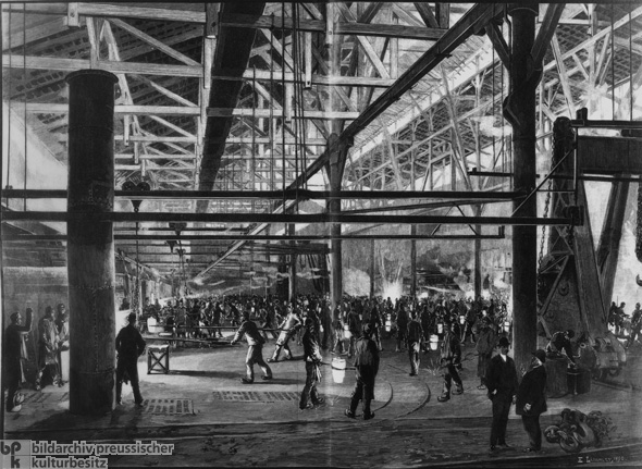 Alfred Krupp's Steel Works in Essen (1890)