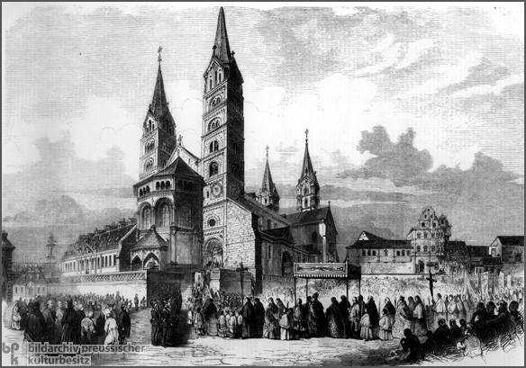 The Enthronement of Archbishop Michael von Deinlein (1858)