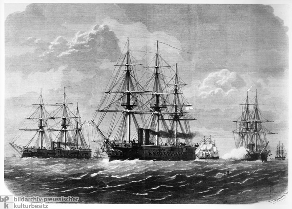 Squadron of Naval Ships (1870)