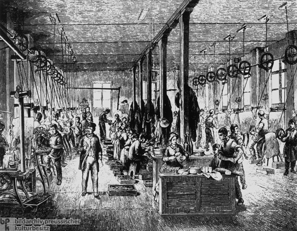 Child Laborers in an Optics Factory (c. 1870)