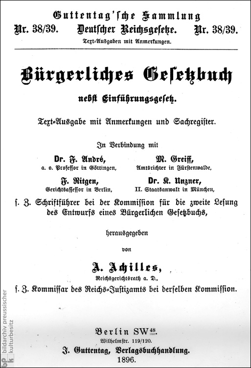 German Civil Code (1896)