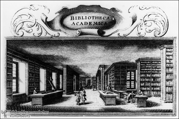 The Library at the University of Göttingen (18th Century)