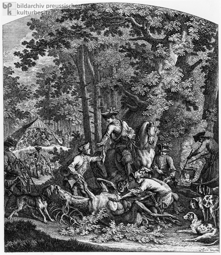 The End of the Stag Hunt (c. 1740)
