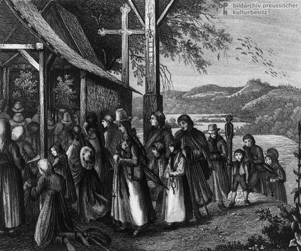 Going to Church in the Black Forest (1843)