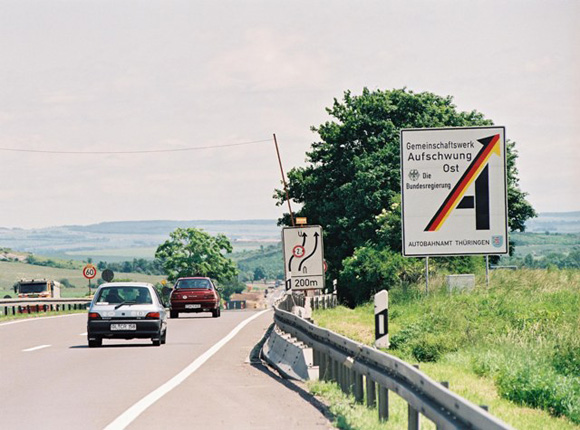 """Joint Venture Upswing East"": Highway Construction in Thuringia (June 26, 1995)"