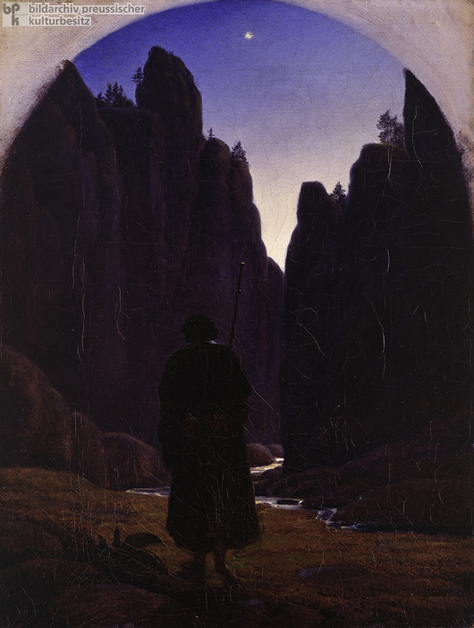 Carl Gustav Carus, <I>Pilgrim in a Rocky Valley</i> (c. 1820)