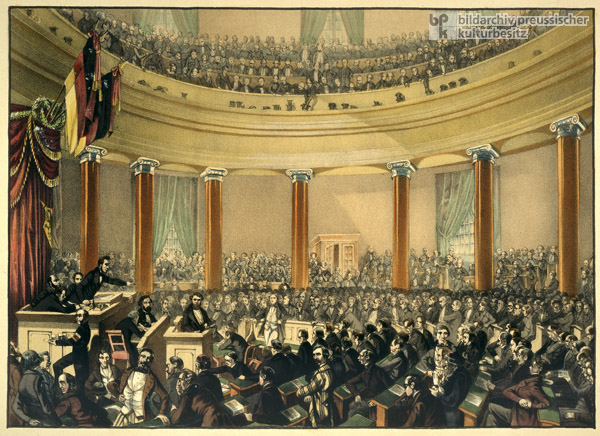 The Frankfurt National Assembly in St. Paul's Church (c. 1848)