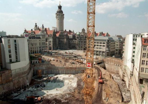 Major Construction Site in Dowtown Leipzig (August 3, 1999)