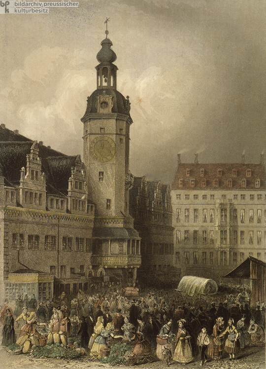 Center of Leipzig (c. 1850)