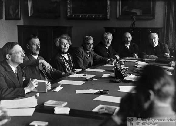 A Meeting of the Poetry Section of the Prussian Academy of Art (November 1929)