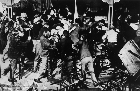 Beer Hall Fight between Communists and Members of the <I>Reichsbanner</i> (c. 1930)