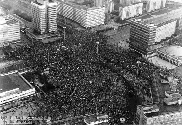 Mass Rally on Alexanderplatz in East Berlin (November 4, 1989)