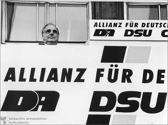 Helmut Kohl at an Election Event Sponsored by the