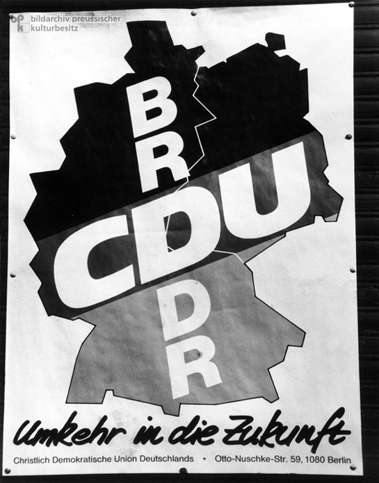 CDU Poster in East Berlin (March 1990)