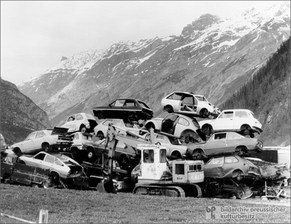 Destruction of an Alpine Landscape (1988)