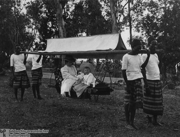 German Officials' Personal Transport in East Africa (c. 1905)
