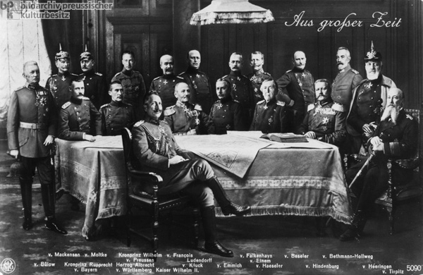 Wilhelm II and his Officers (c. 1915)