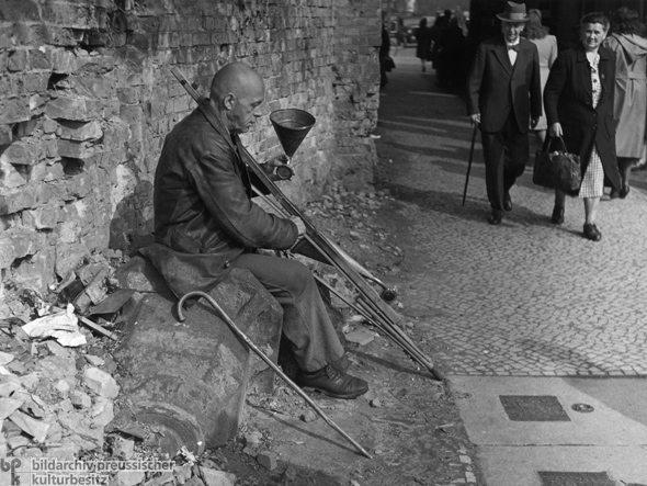 Disabled Veteran as Street Musician (1945)