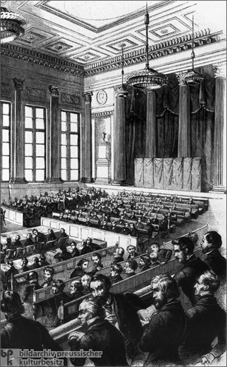 Meeting of the Prussian National Assembly in the <I>Singakademie</I> (1848)