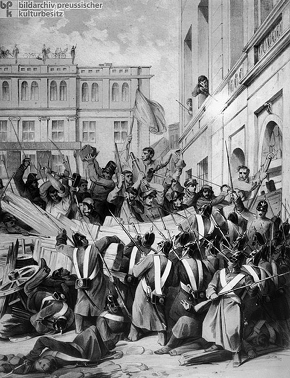 Barricade Fighting in Berlin (March 18-19, 1848)