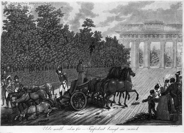 Allegorical Depiction of the Return of the Quadriga to the Brandenburg Gate (1814)
