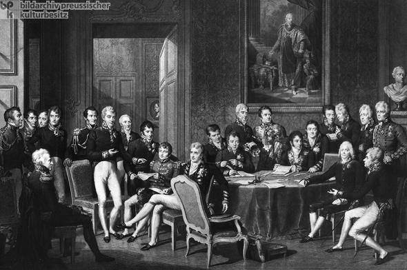 Der Wiener Kongress unter der Leitung des Fürsten Clemens von Metternich (1814/15)