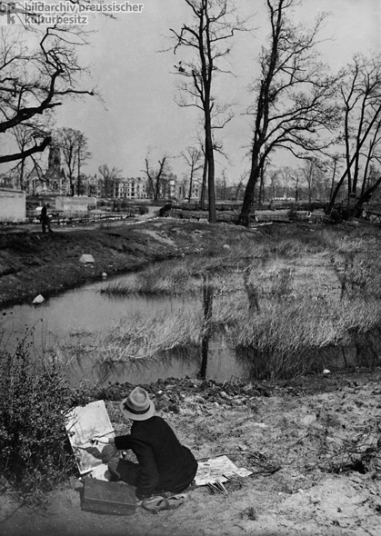 Painter at the Landwehr Canal, Tiergarten (1947)
