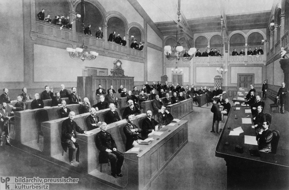 Alsace-Lorraine's Provincial Assembly in Strasbourg (c. 1874)