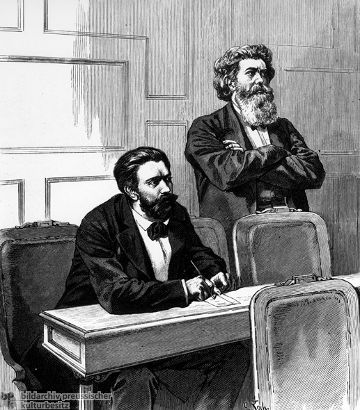 August Bebel and Friedrich Wilhelm Fritzsche during the Socialist Law Debates (September 16-17, 1878)