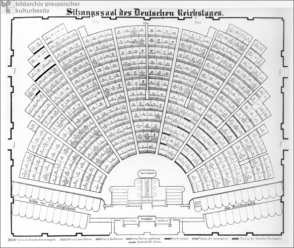 Seating Plan of the Reichstag (1874)