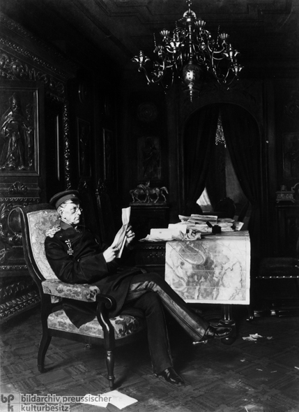 Anton von Werner, <i>Chief of the Prussian General Staff Helmuth von Moltke in his Office at Versailles</i> (1870)