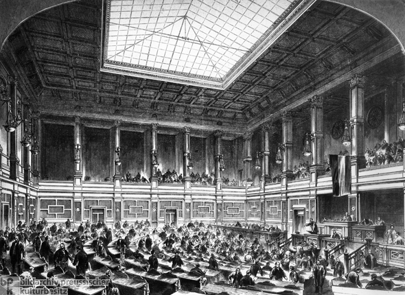 Interior of the Reichstag (1872)