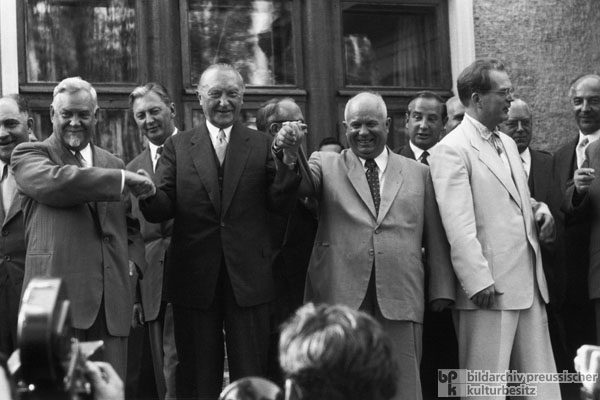 Federal Chancellor Adenauer on a State Visit to Moscow (September 11, 1955)