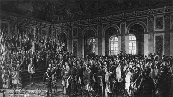 Anton von Werner, <i>The Proclamation of the German Empire (January 18, 1871)</i> – Palace Version (1877)