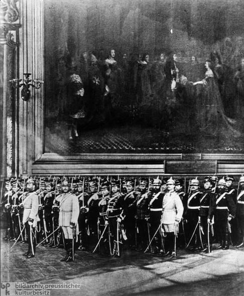 Troops Parade through the Versailles Palace (January 18, 1871)