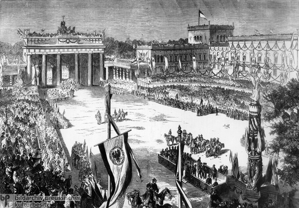 Siegesfeier beim Brandenburger Tor (21. September 1866)