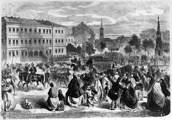 Arrival of Prussian Troops in Dresden (June 18, 1866)
