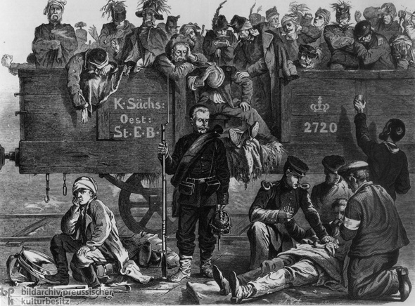 Casualties Flood into Dresden (June-July 1866)
