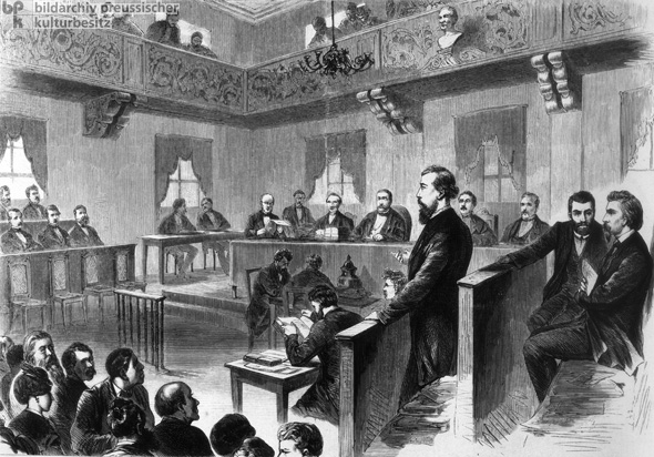 Socialists on Trial for Treason (1872)