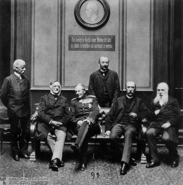Members of the Conservative Party's Reichstag Caucus (1889)