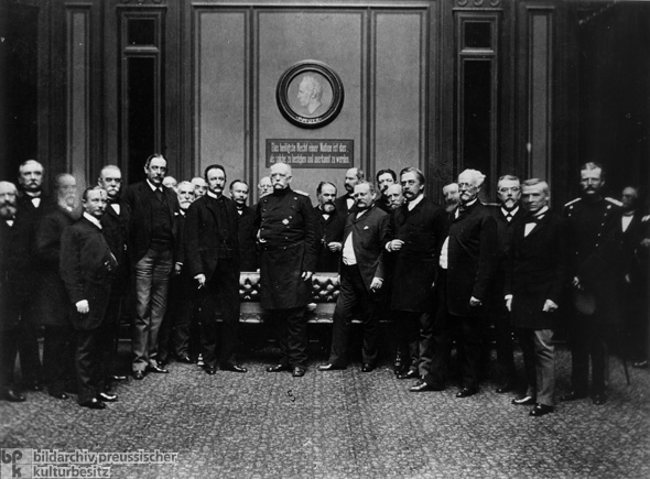 Bismarck with Diplomatic Envoys of Germany's Federal States (1889)
