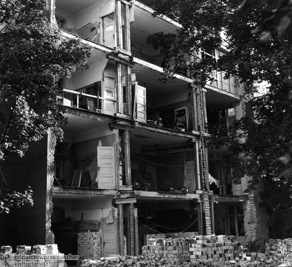 Destroyed Apartment Building in Berlin (1947)